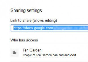 Google drive share setting