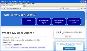 Forged user agent
