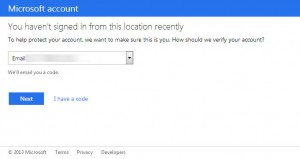 Hotmail wants to verify me