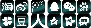 Chinese social media icons