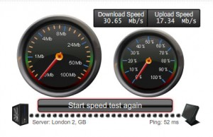 BT Infinity speed test