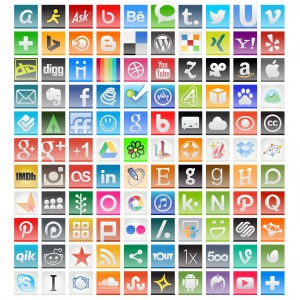 International social media icons